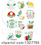 Clipart Of Natural And Organic Food Designs Royalty Free Vector Illustration