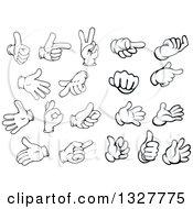 Clipart Of Cartoon Hands Royalty Free Vector Illustration
