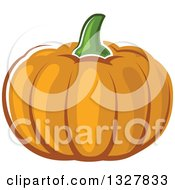 Clipart Of A Cartoon Pumpkin Royalty Free Vector Illustration by Vector Tradition SM