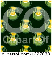 Clipart Of A Seamless Olive Oil Pattern Background 2 Royalty Free Vector Illustration