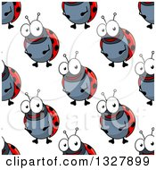 Clipart Of A Seamless Background Pattern Of Ladybugs 2 Royalty Free Vector Illustration by Vector Tradition SM