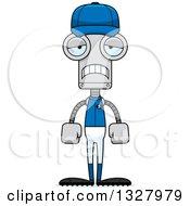Poster, Art Print Of Cartoon Skinny Sad Baseball Robot