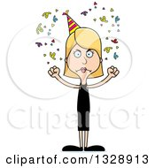 Clipart Of A Cartoon Angry Tall Skinny White Party Woman Royalty Free Vector Illustration