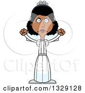 Cartoon Angry Tall Skinny Black Woman Bride