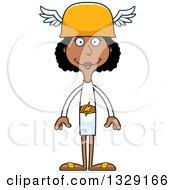 Cartoon Happy Tall Skinny Black Hermes Woman