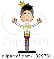 Clipart Of A Cartoon Angry Tall Skinny Hispanic Man Prince Royalty Free Vector Illustration by Cory Thoman