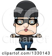 Clipart Of A Cartoon Mad Block Headed White Senior Woman Robber Royalty Free Vector Illustration by Cory Thoman