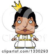 Cartoon Happy Block Headed Black Woman Princess