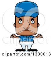 Clipart Of A Cartoon Mad Block Headed Black Man Sports Coach Royalty Free Vector Illustration