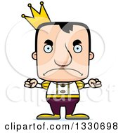 Clipart Of A Cartoon Mad Block Headed White Man Prince Royalty Free Vector Illustration by Cory Thoman