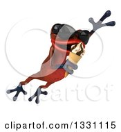 Clipart Of A 3d Red Springer Frog Wearing Sunglasses Leaping Slightly Right And Eating A Waffle Ice Cream Cone Royalty Free Illustration by Julos