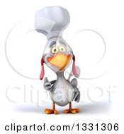 Clipart Of A 3d White Chef Chicken Giving A Thumb Up Royalty Free Illustration by Julos
