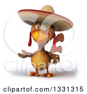 3d Brown Mexican Chicken Presenting