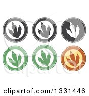 Clipart Of Raptor Dinosaur Foot Prints In Circles Royalty Free Vector Illustration
