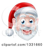 Clipart Of A Happy Santa Claus Face Royalty Free Vector Illustration