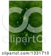 Clipart Of A Green Fractal Background With A Dark Center And Spirals Royalty Free Illustration