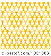Clipart Of A Background Of A Crowd Of White Men In Orange Bubbles Royalty Free Vector Illustration by ColorMagic