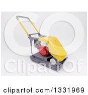 Clipart Of A 3d Vibratory Plate Compactor Tool On Shaded White Royalty Free Illustration
