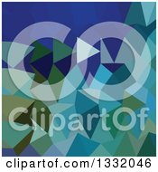 Clipart Of A Low Poly Abstract Geometric Background Of Blue Pigment Royalty Free Vector Illustration