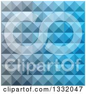 Clipart Of A Geometric Background Of 3d Pyramids In Bright Cerulean Blue Royalty Free Vector Illustration