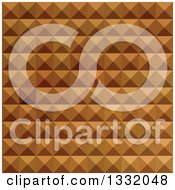 Clipart Of A Geometric Background Of 3d Pyramids In Bronze Brown Royalty Free Vector Illustration