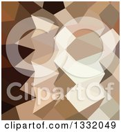 Clipart Of A Low Poly Abstract Geometric Background Of Burlywood Brown Royalty Free Vector Illustration