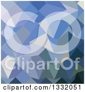 Clipart Of A Low Poly Abstract Geometric Background Of Carolina Blue Royalty Free Vector Illustration