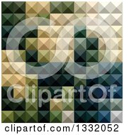 Clipart Of A Geometric Background Of 3d Pyramids In Castleton Green Royalty Free Vector Illustration