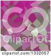 Clipart Of A Low Poly Abstract Geometric Background Of Dark Lavender Royalty Free Vector Illustration