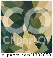 Clipart Of A Low Poly Abstract Geometric Background Of Dark Olive Green Royalty Free Vector Illustration