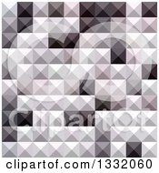 Clipart Of A Geometric Background Of 3d Pyramids In Davy Gray Royalty Free Vector Illustration