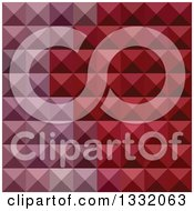 Clipart Of A Geometric Background Of 3d Pyramids In Falu Red Royalty Free Vector Illustration