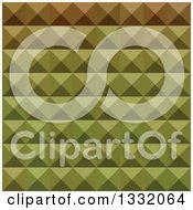 Clipart Of A Geometric Background Of 3d Pyramids In Mignonette Green Royalty Free Vector Illustration
