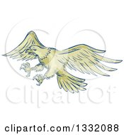 Clipart Of A Retro Sketched Or Engraved Royalty Free Vector Illustration