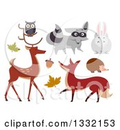 Clipart Of Woodland Animals Royalty Free Vector Illustration by BNP Design Studio
