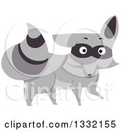 Clipart Of A Surprised Raccoon Royalty Free Vector Illustration by BNP Design Studio