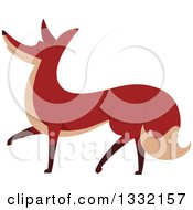 Clipart Of A Walking Fox Royalty Free Vector Illustration by BNP Design Studio