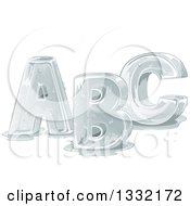 Clipart Of Melting Capital ABC Alphabet Letters Royalty Free Vector Illustration