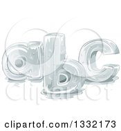 Clipart Of Melting Lower Case ABC Alphabet Letters Royalty Free Vector Illustration