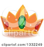Clipart Of A Jeweled Crown Royalty Free Vector Illustration by BNP Design Studio