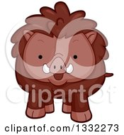 Clipart Of A Cute Happy Boar Royalty Free Vector Illustration by BNP Design Studio