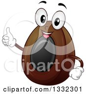Clipart Of A Cartoon Century Egg Character Giving A Thumb Up Royalty Free Vector Illustration by BNP Design Studio