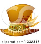 Clipart Of A Steampunk Top Hat Royalty Free Vector Illustration by BNP Design Studio
