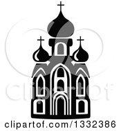 Clipart Of A Black And White Church Building 10 Royalty Free Vector Illustration