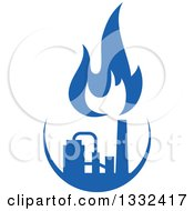 Clipart Of A Blue Natural Gas And Flame Design 15 Royalty Free Vector Illustration
