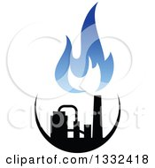 Clipart Of A Black And Blue Natural Gas And Flame Design 16 Royalty Free Vector Illustration