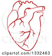 Clipart Of A Red Human Heart 3 Royalty Free Vector Illustration by Vector Tradition SM