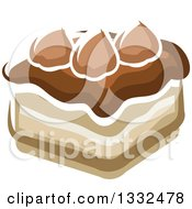 Clipart Of A Cartoon Chocolate Cake Royalty Free Vector Illustration