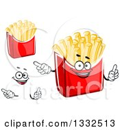 Clipart Of A Cartoon Face Hands And French Fries 2 Royalty Free Vector Illustration by Vector Tradition SM