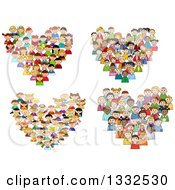 Clipart Of Hearts Made Of Diverse Children Royalty Free Vector Illustration by Vector Tradition SM